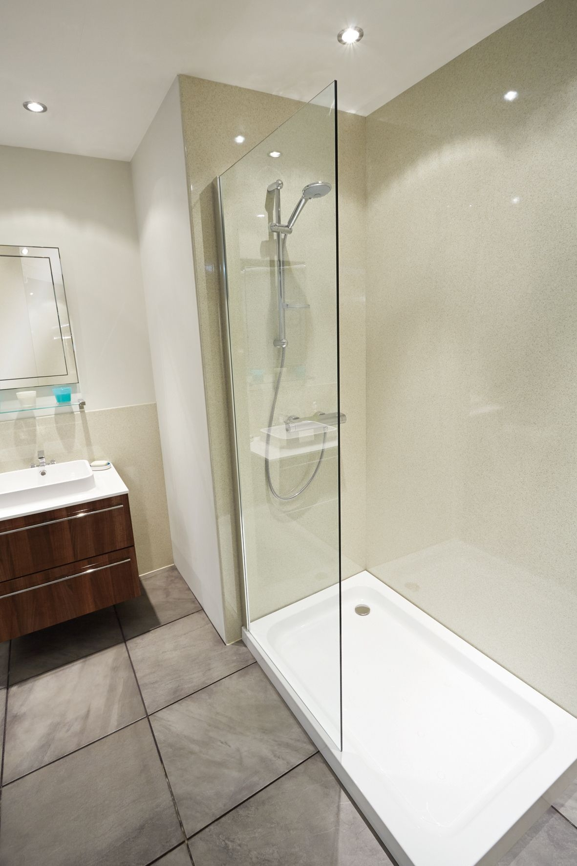 nuance laminate panelling is an ideal alternative to tiling there