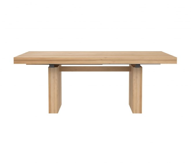 oak double extendable dining table architonic
