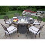 oakland living 8 piece aluminum outdoor dining set with