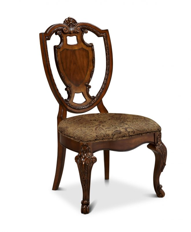 old world shield side chair