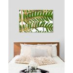 oliver gal golden greens floral and botanical wall art canvas print green gold