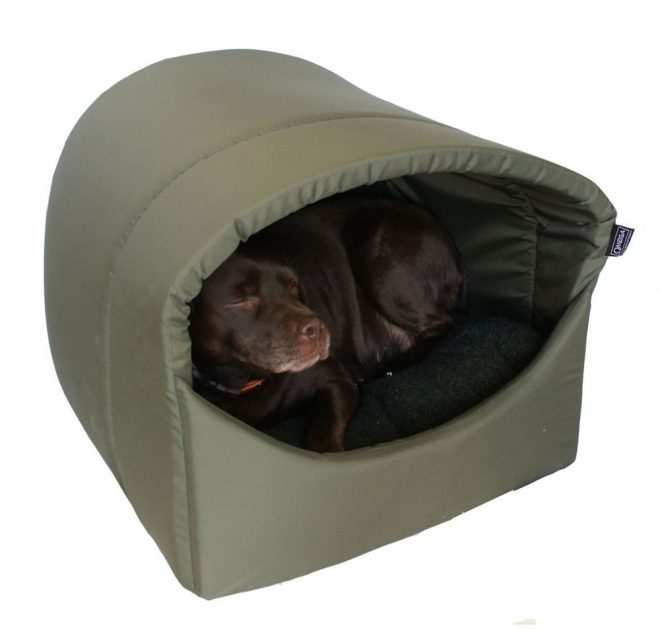 omega hooded cave covered dog bed extra large for large
