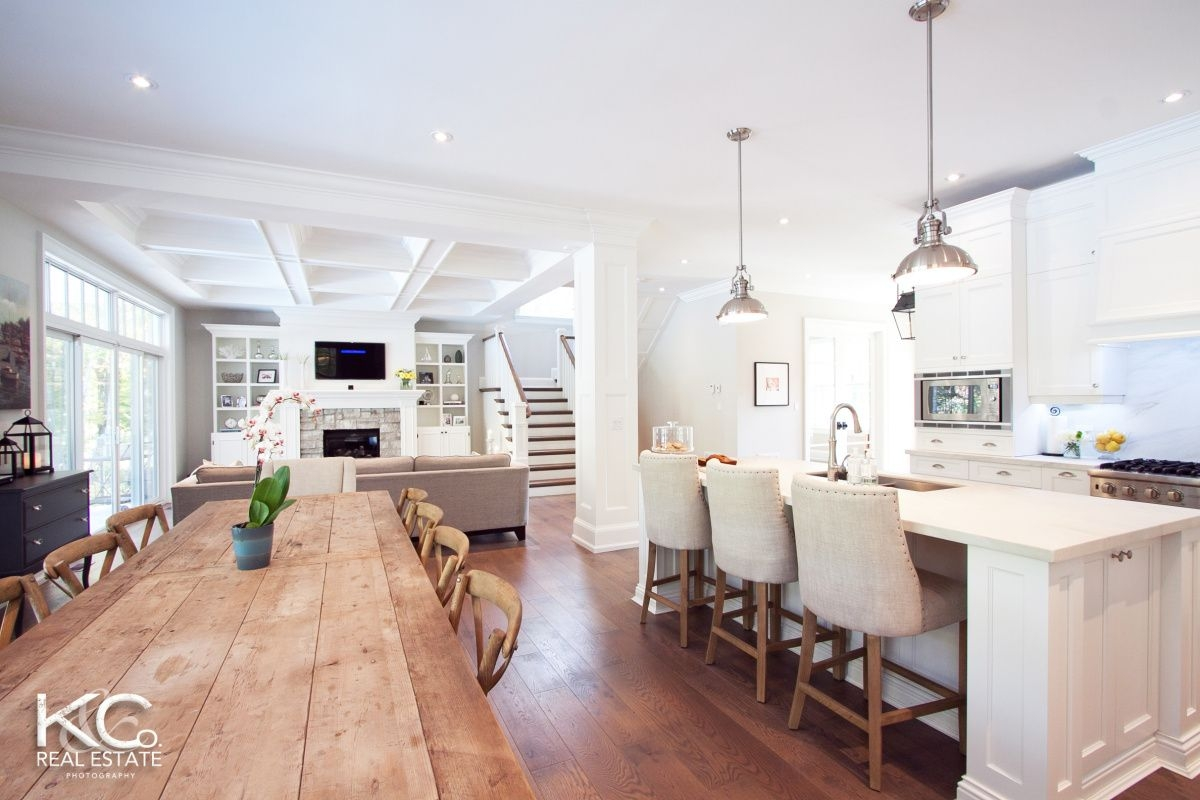 open concept kitchen living dining love the room except i would