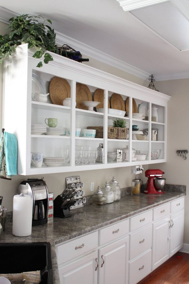 open corner shelves in kitchen nickel chrome faucet stainless steel