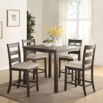 ophelia co keesler 5 piece counter height dining set wayfair