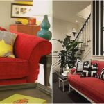 oronovelo red couch living room inspiration for red sofa
