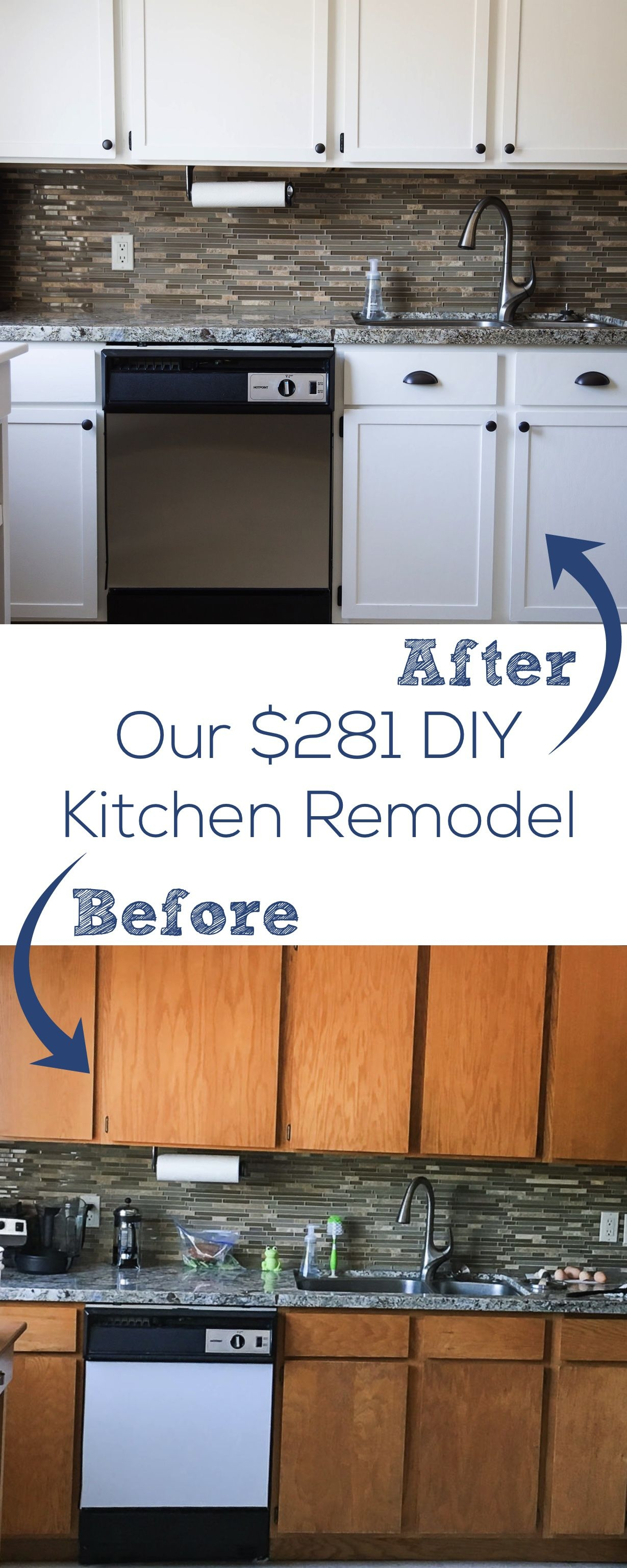 our 281 diy kitchen remodel diy painting oak cabinets white