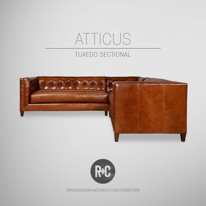 our atticus is a mid century modern tuxedo sofa now