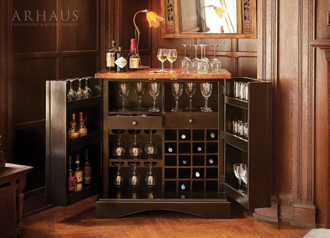 our aubrey wine bar meets all of your needs for entertaining