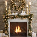 our golden pear wreath and garland is generously adorned