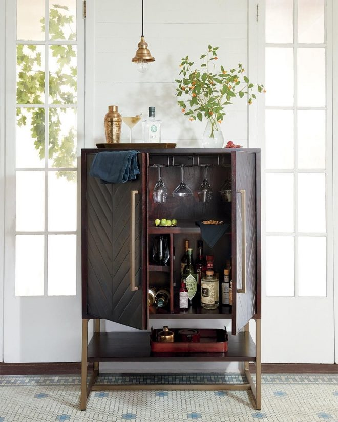 our nobelle bar is the perfect hostess with easy storage for