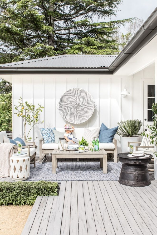 our outdoor makeover with pottery barn outdoor decor