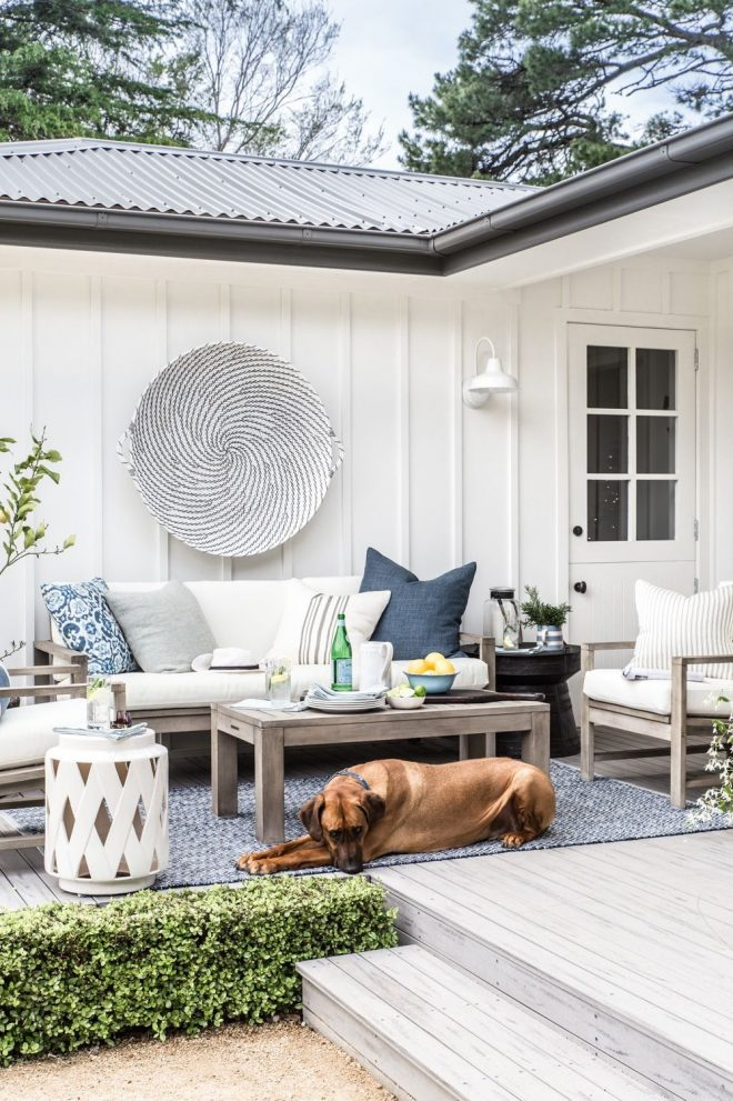 our outdoor makeover with pottery barn outdoor living