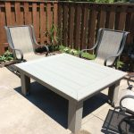outdoor coffee table made out of composite decking diy