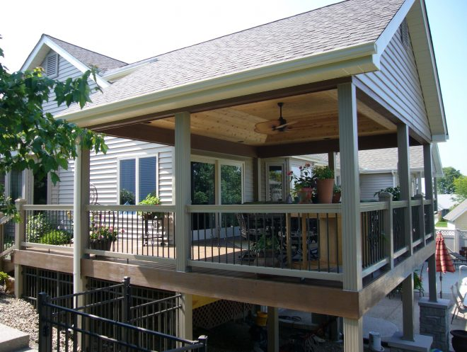 outdoor covered deck ideas home design partially small