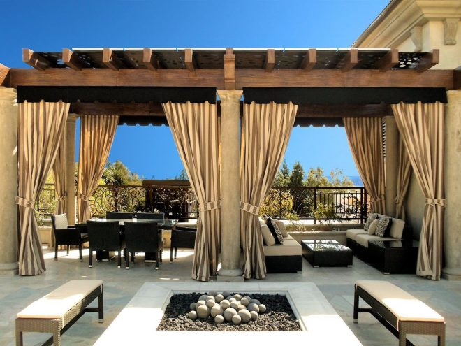 outdoor curtains drapes and roller shades outdoor