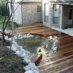 outdoor decki think i would like smaller water feature more