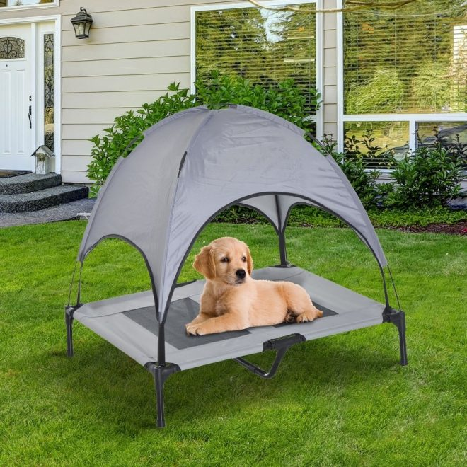 outdoor dog bed with canopy dog beds diy outdoor dog bed