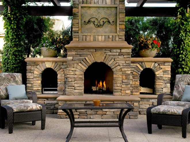 outdoor fireplace design ideas outdoor stone fireplaces