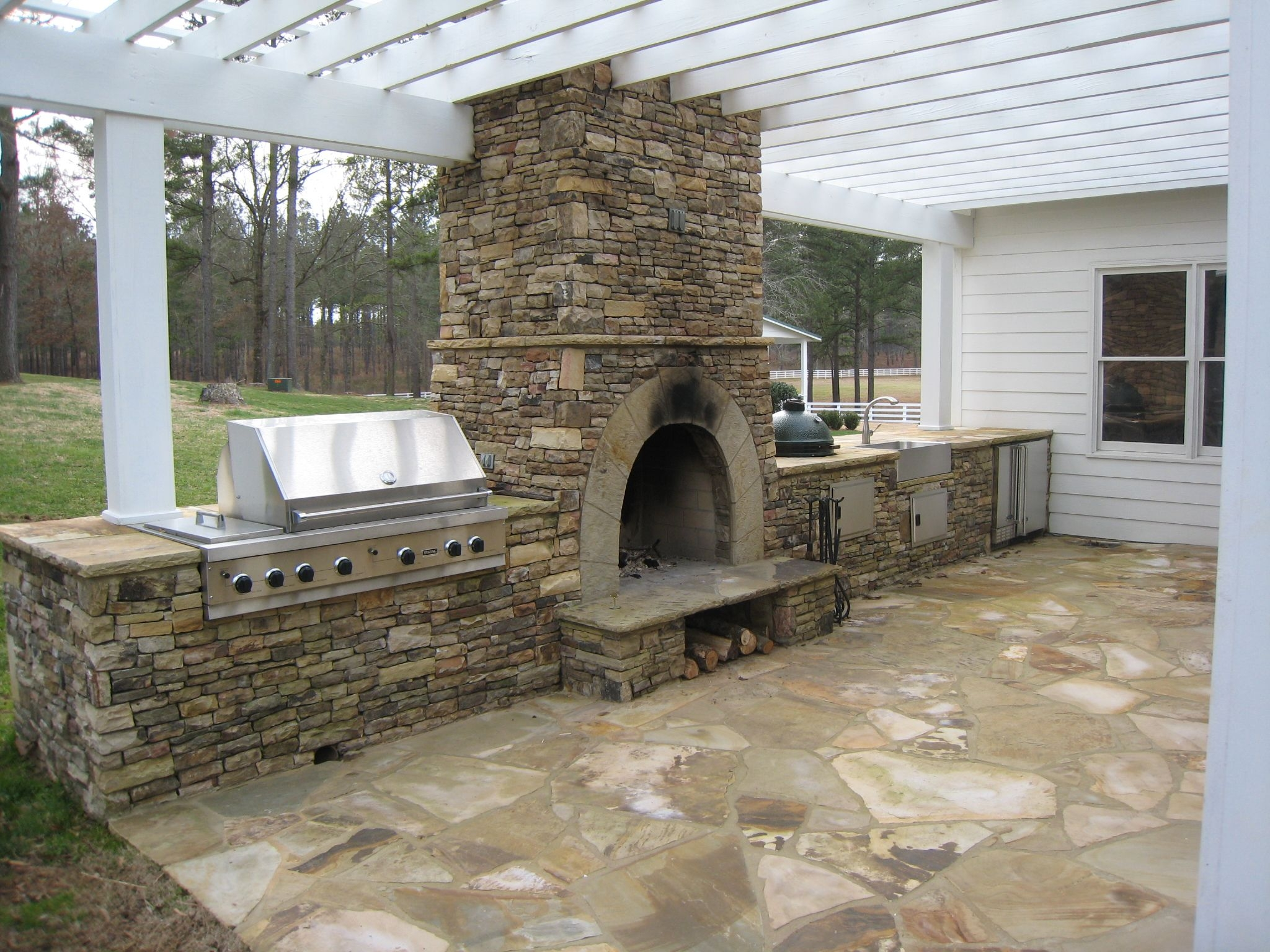 outdoor fireplace kits for the diyer for the home