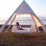 outdoor floating bed beach design outdoor floating bed