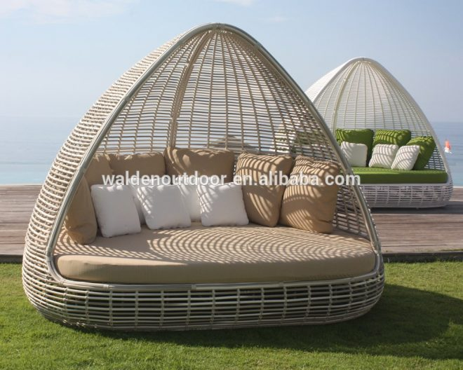 outdoor furniture garden sun bed patio daybed hotel round sun loungers rattan beach poolside lounger buy luxury rattan sun loungeroval beach