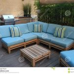 outdoor furniture on wooden deck stock photo image of