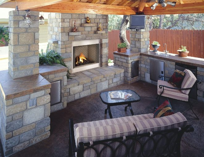outdoor kitchen and fireplace designs kitchen decor outdoor