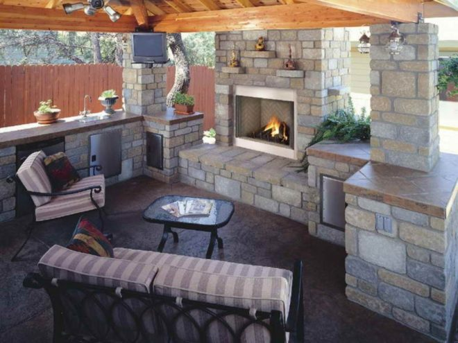 outdoor kitchen designs with fireplace ideas 130 decoor
