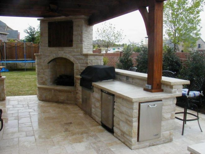 outdoor kitchen designs with fireplace ideas 150 decoor