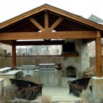 outdoor kitchen designs with fireplace ideas 180 decoor