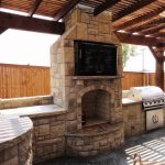 outdoor kitchen fireplaces in dallas frisco plano