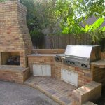 outdoor kitchen with fireplace designs cileather home