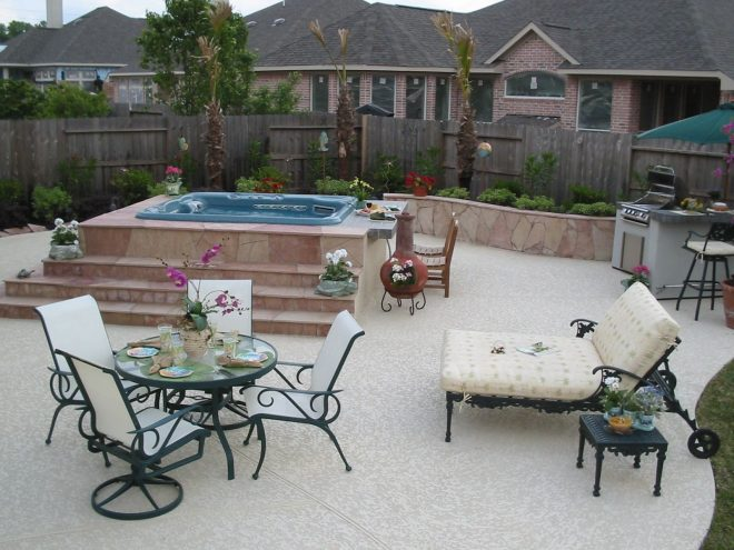 outdoor kitchen with hot tub in 2019 backyard outdoor