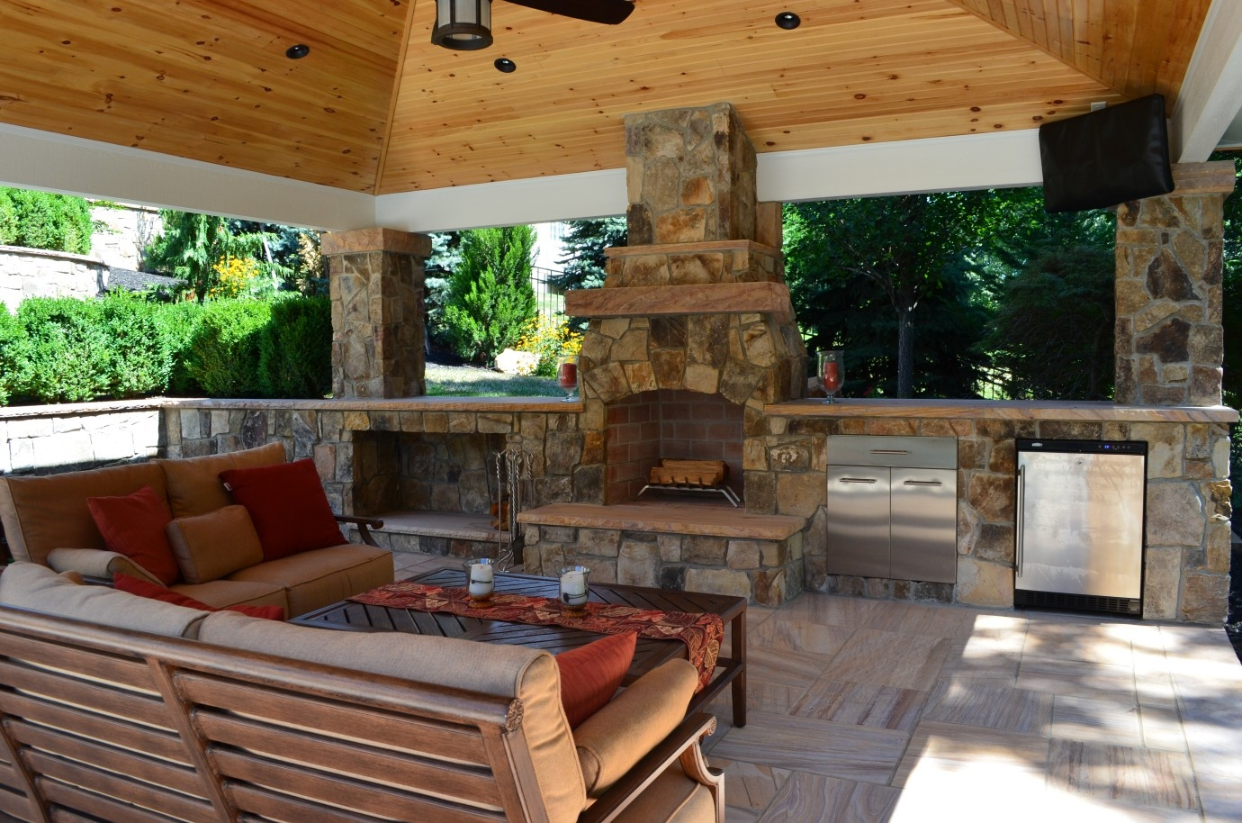 outdoor living outdoor kitchen fireplace design services