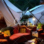 outdoor living room and tents photos canva