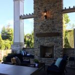 outdoor living room from nw street of dreams outdoor oasis