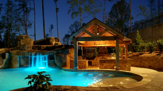 outdoor living rooms travertine tampa