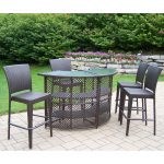 outdoor oakland living all weather wicker half round patio bar set