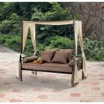 outdoor patio furniture day bed lounge with canopy sun