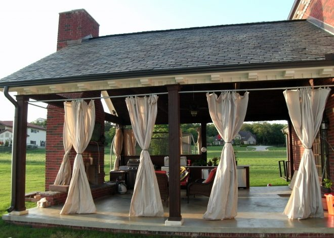 outdoor patio porch curtains for more shade during warm