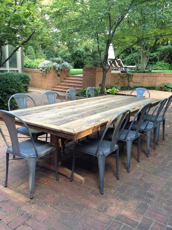outdoor patio rustic farm tableswell make you one i think this