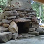 outdoor patio stone fireplace traditional idea standing