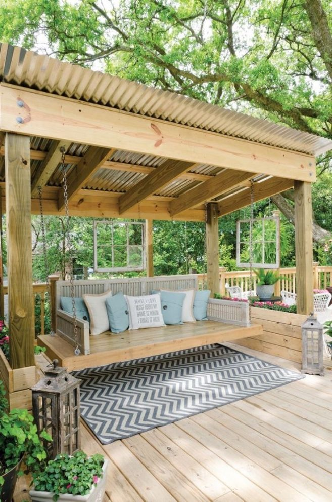 outdoor patio swing diy porch swing decks in 2018 backyard