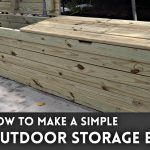 outdoor storage bench woodworking how to youtube