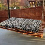 outdoor suspended bed for the home outdoor pallet projects