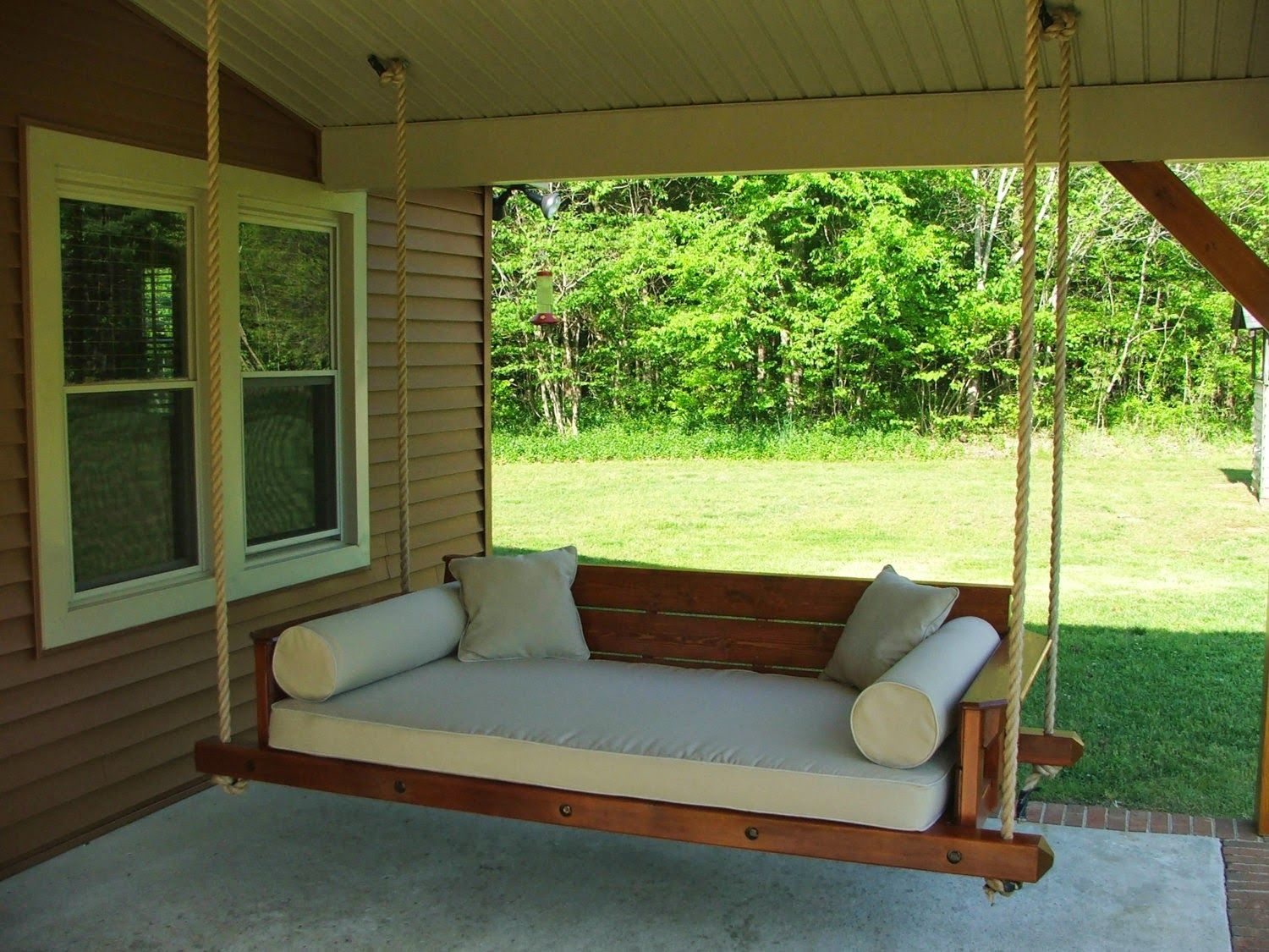 outdoor swing bed plans hanging chairs outdoor porch bed