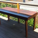 outdoor table made from merbau decking outdoor tables