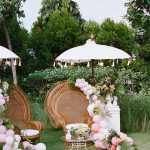 outdoor tropical wedding photo booth seth mourra