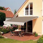 outsunny 12x82ft manual retractable patio awning water